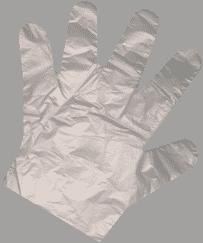 دستکش نایلونی یکبار مصرف