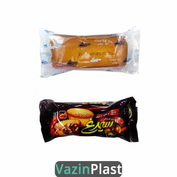 بسته بندی کیک، بسته بندی کلوچه، بسته بندی بیسکوییت، پلاستیک بسته بندی، سلفون بسته بندی، نایلون بسته بندی