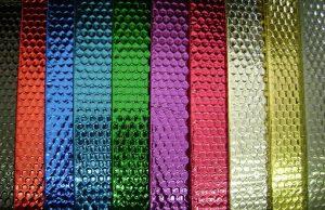 نایلون حبابدار متالایز رنگی